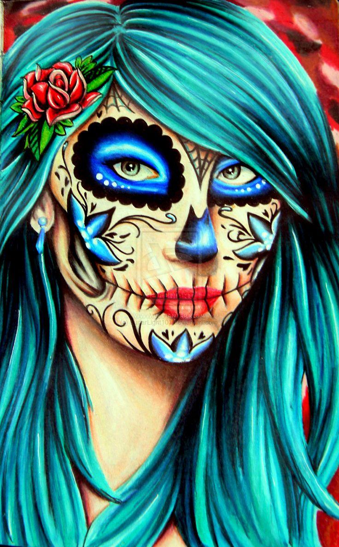 Sugar Skull Kalel Cullen by LunarLight101.deviantart.com on @deviantART