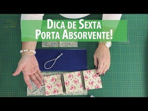 Porta Absorventes DIY (Tutorial Patchwork) com Patricia Muller | Cantinho do Video