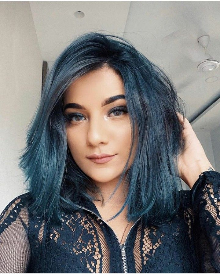 Beauty At Its Best Mrunu Light Blue Hair Beauty Hair Color Crazy