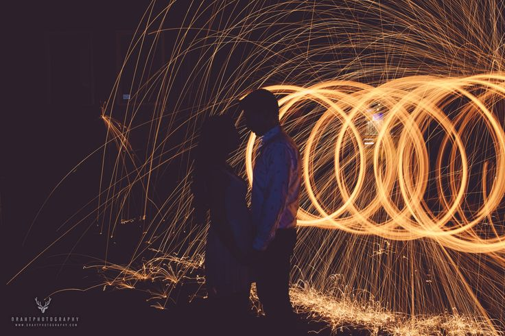 Tried some fire spinning for another famous Draht Photography engagement session!