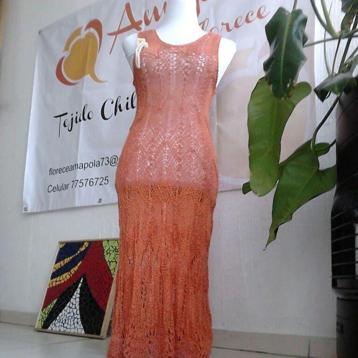 Vestido lino, talla 40