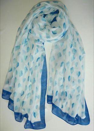 Нежный весенне-летний широкий шарф палантин из германии.+(C