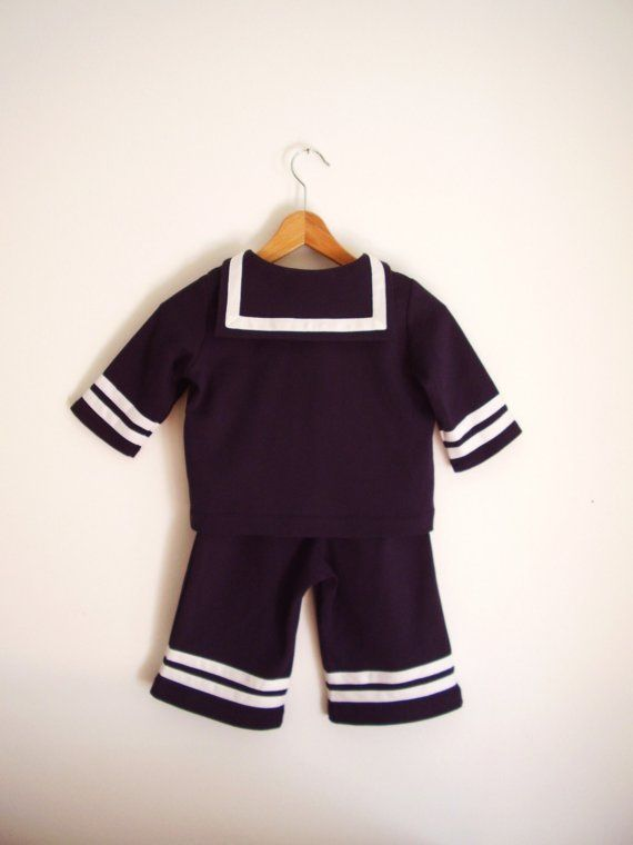 BABY SUIT AHOI, Twopiece Navy Blue Sailor Baby Suit on Etsy, 616,62 kr