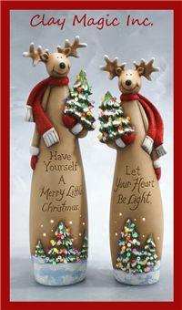 Clay Magic - Reindeer with Christmas tree