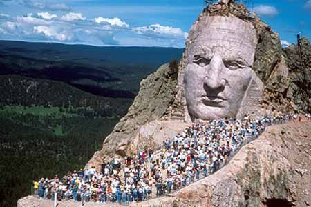 Crazy Horse Memorial, South Dakota - they have a GREAT museum there check it out!  Don't go to see Rushmore without also visiting here...