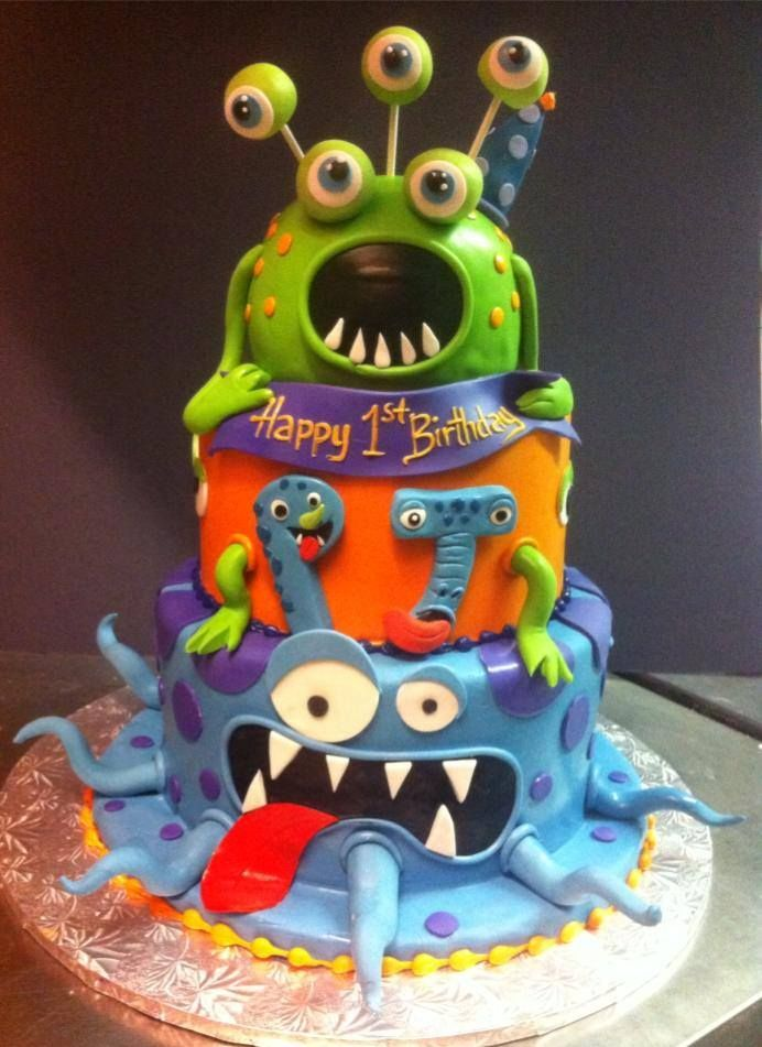 48 best Monster Cakes images on Pinterest Monster cakes Monster