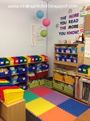 Sliding into First Classroom Tour: library