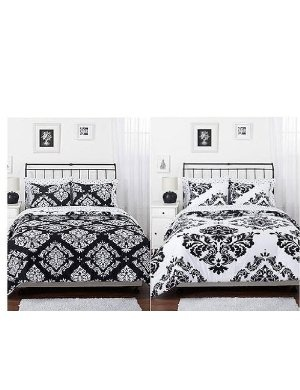 Black And White Damask Bed Set My Style Pinterest