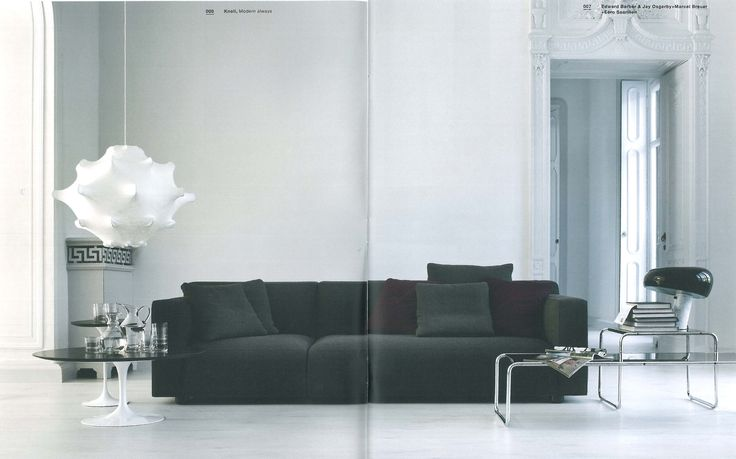 Barber Osgerby Sofa + Tulip side tables + Laccio coffee and side table