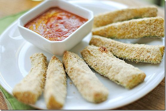 Baked zucchini sticks...yummy and healthy appetizer!