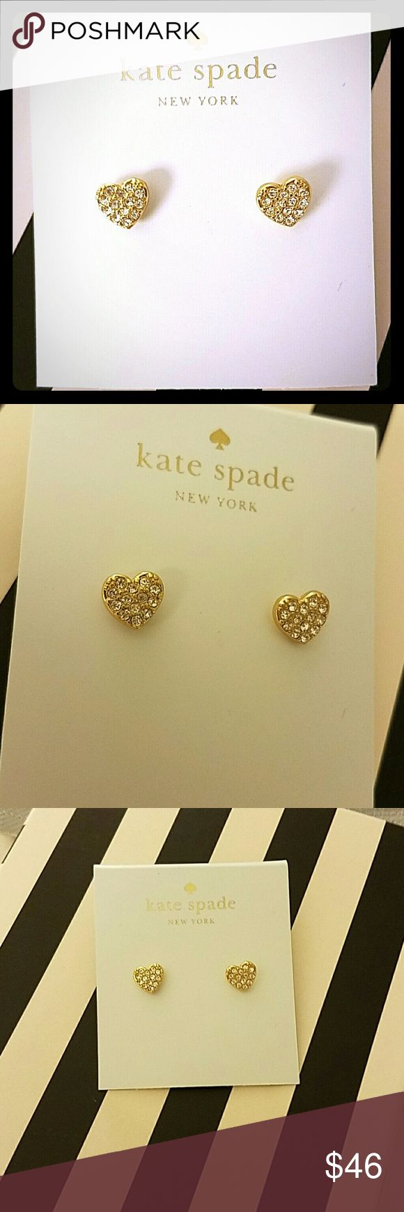 Kate Spade Gold Heart Earrings Brand new with tags and can also include KS gift bag. Not included but also selling silver earrings that are similar kate spade Jewelry Earrings