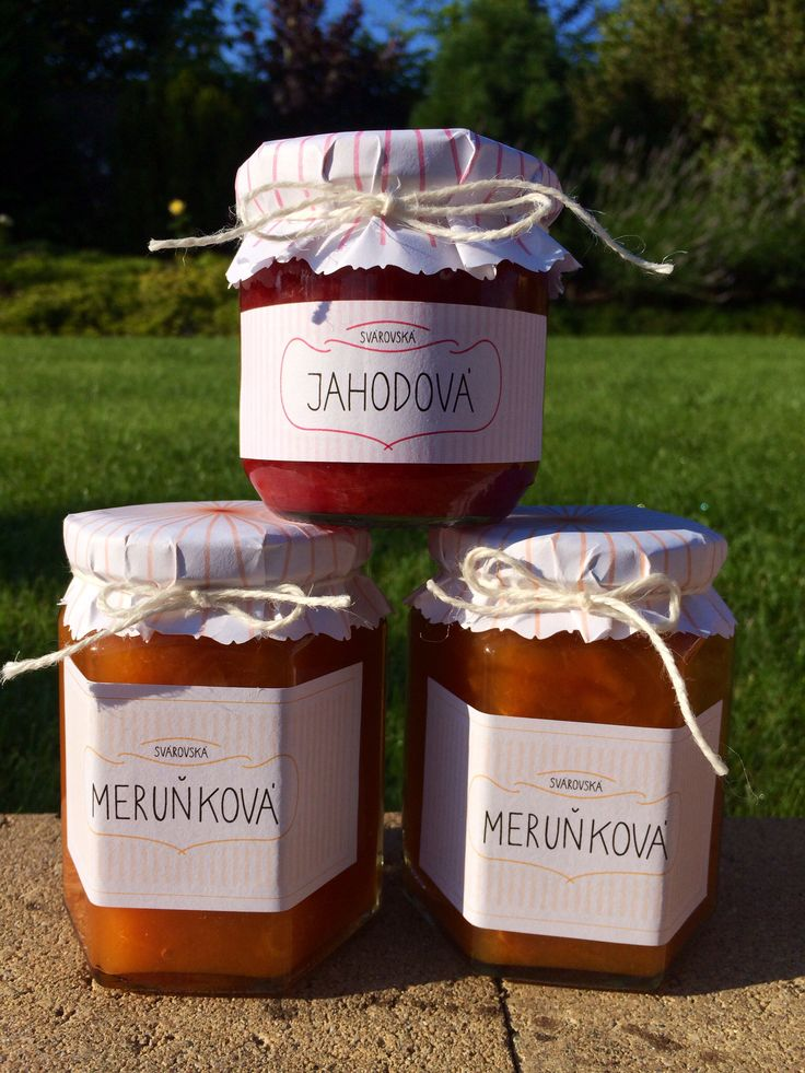 Home made jam and labels