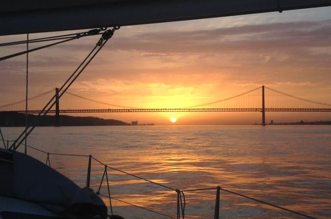 The Best Sunset Lisbon Sailing Experience Lisbon, sunset sailing the Tagus river, the discoveries and the history of one of the oldest cities in the world.Welcome Aboard ... the experience starts here, in the dock of Belém! Leaving the dock the wind and sea rules, which takes the boat to sail near the Monument of the Discoveries, passing beneath the imposing bridge 25th of April, leaving Alcantara behind and reaching to the Old Lisbon, where in a distance you can see the dome ...