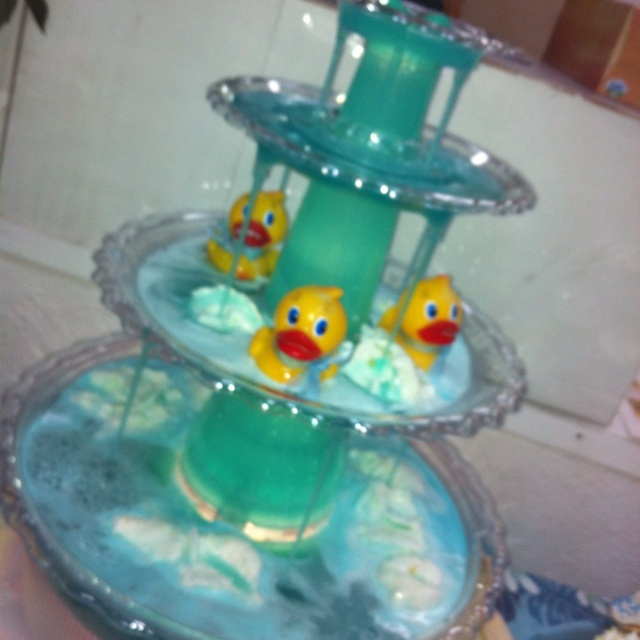 Ducky Baby Shower Punch Part - 33: Friends Punch Fountain For Boy Baby Shower