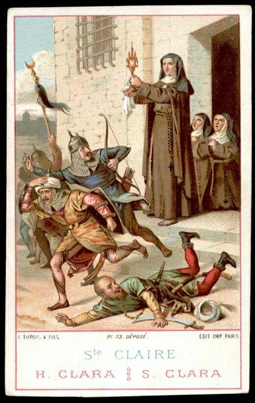 Santa Clara de Assis. Fé invicta em Jesus Eucarístico.