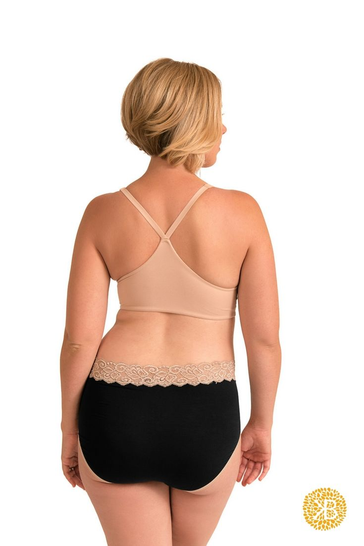 You won't have to sacrifice comfort and style with The Kindred Bravely High Waist Postpartum Underwear & C-Section Recovery Panties. These full coverage underwear are the perfect alternative to ugly and saggy Granny panties and the ideal transition from your mesh hospital underwear. The ultra stretchy fabric sits above your c-section line and naturally conforms to your changing body. They offer plenty of room for pads and the wide lace waist won't dig or rub.