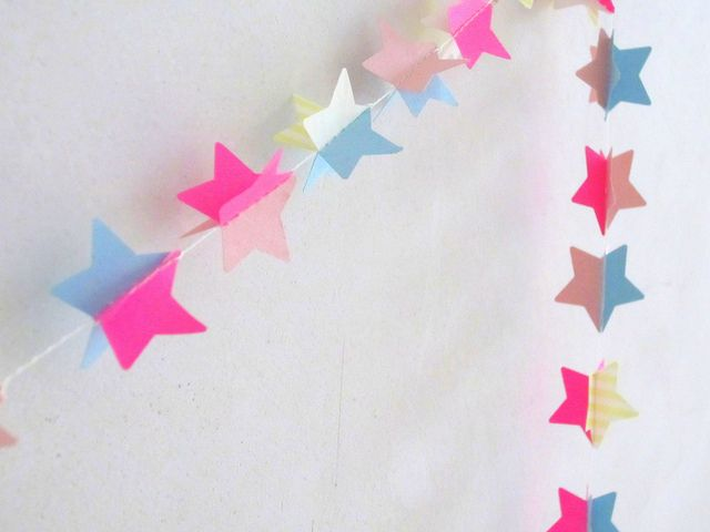 Star garland .  I love a pretty garland! Will use this for July on my mantle or wrapped on my wreath