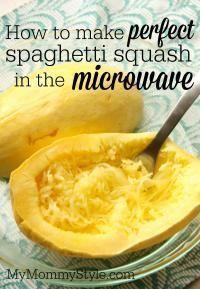So machen Sie einen perfekten Spaghetti-Kürbis in der Mikrowelle