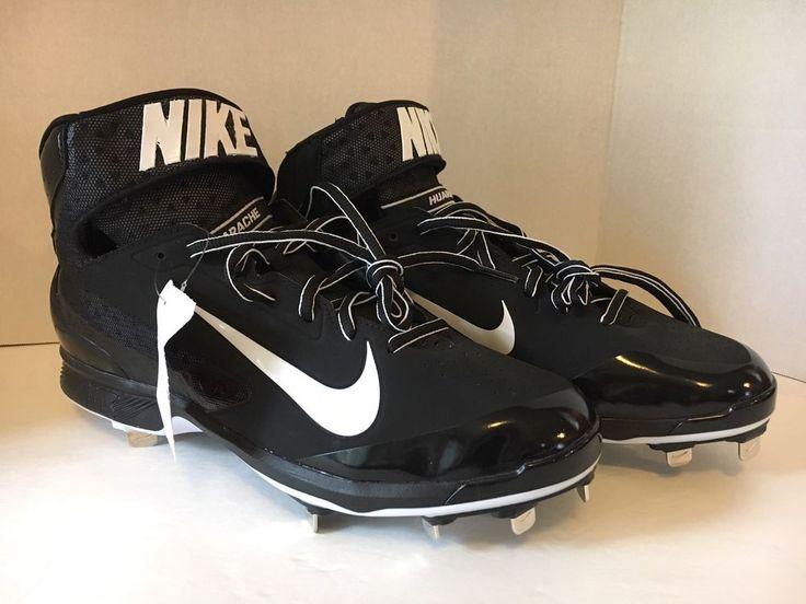 Nike Men's HUARACHE Pro Mid Metal Baseball Cleats 599235-001 Size 11.5 NWOB #Nike #Cleats