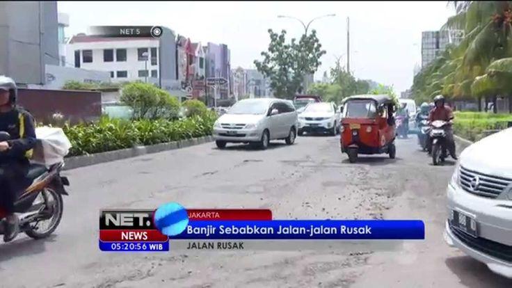 Pasca Banjir, Sejumlah Jalanan Ibu Kota Rusak