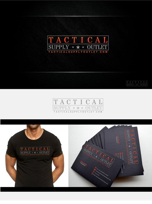 Tactical Supply Outlet Logo Design by Bright Red Orange