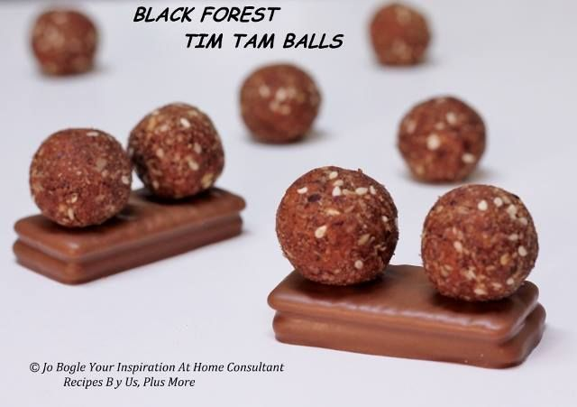 Your Inspiration At Home Black Forest Tim Tam Balls  www.joannebogle.yourinspirationathome.com.au