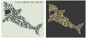 IF YOU SEE A SHARK DONT PANIС T-SHIRT PRINT - http://freepicvector.com/if-you-see-a-shark-dont-pani%d1%81-t-shirt-print/