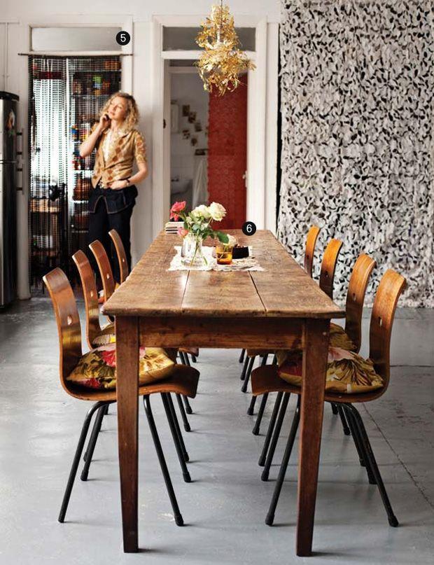 Cozy dining room decor boho kitchens cozinhas for Narrow dining room ideas