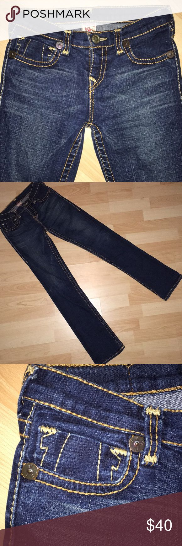True religion jeans True religion jeans, dark wash excellent condition! size 14 girls. True Religion Bottoms Jeans