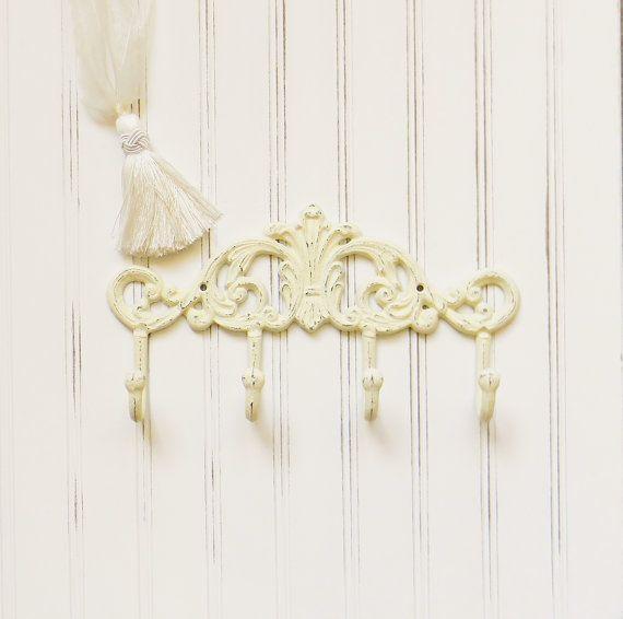 Cast Iron Coat Hook, Choose your Color, Wall Hooks, Hallway Hooks, Decorative Coat Hook, Iron Wall Decor, Iron Home Decor