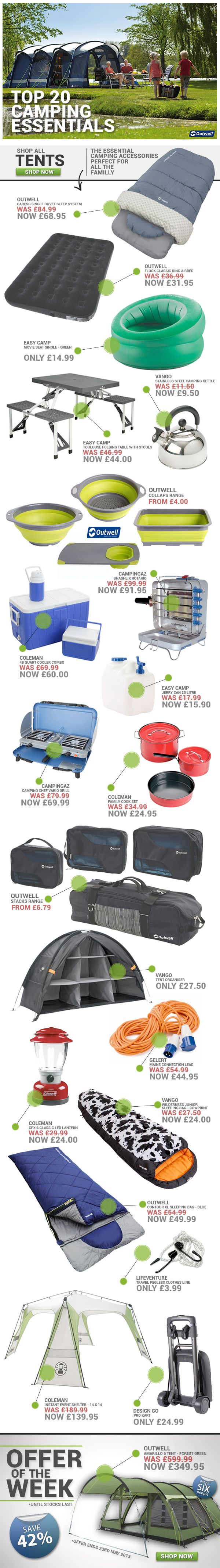 Top 20 Camping Essentials from www.simplyhike.co.uk Wish I could find that organizer here in US.. omg I want the shelf!!!