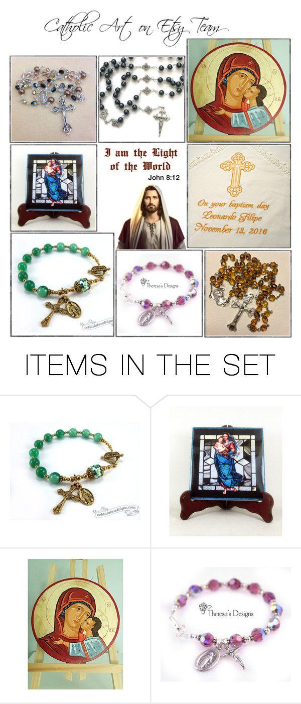 """Religious Art on Etsy by TerryTiles2014 - Volume 224"" by terrytiles2014 on Polyvore featuring arte, etsy, art, catholic e religious"