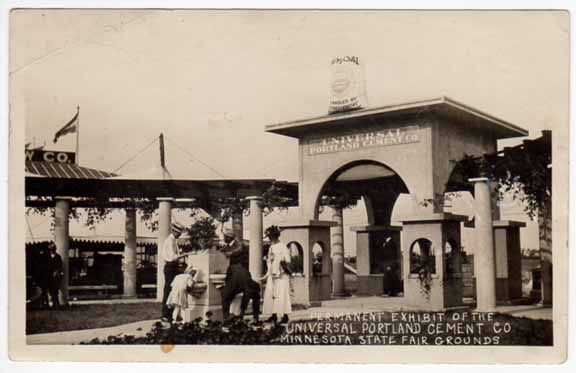 vintage Minnesota state fair photos | Real Photo Postcard Universal Portland Cement @ MN State Fair Grounds