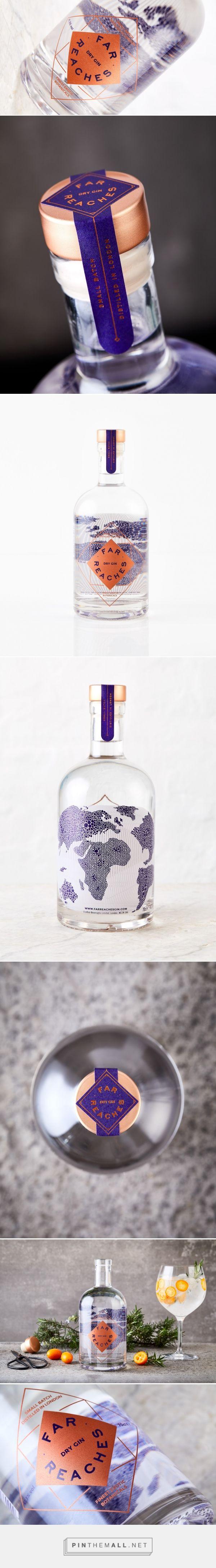 Far Reaches Gin packaging design by Chris Moore Design - http://www.packagingoftheworld.com/2017/11/far-reaches-gin.html