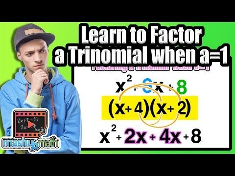 ☆ How to Factor a Trinomial when A=1 | Common Core Algebra - YouTube