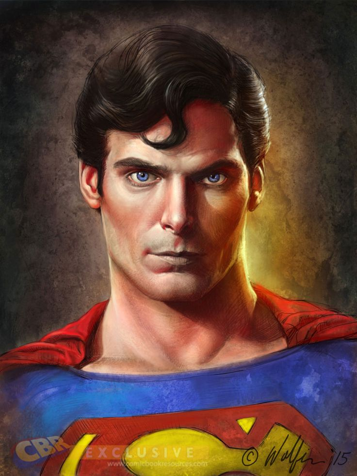 Portrait of Christopher Reeve as Superman by Terry Wolfinger