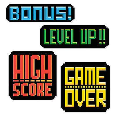 80's Arcade PIXEL 1-up Video GAME OVER Cutouts Gamer Birthday Party Decoration | Home & Garden, Greeting Cards & Party Supply, Party Supplies | eBay!
