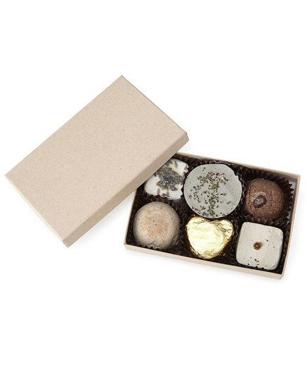 The only thing better than a box of chocolate truffles is one with plenty of indulgence and no nutritional setbacks. This box of six—bathtub truffles, that is—comes with a variety that ranges from fruity (grapefruit) to rich (mocha).