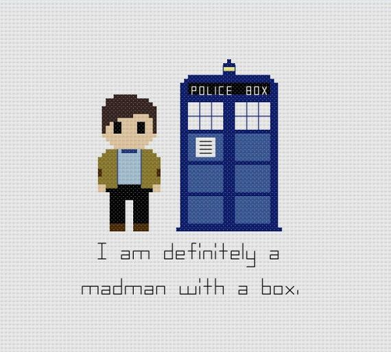 Doctor Who 11th Doctor Quote Cross Stitch Pattern by GeekyStitches on Etsy