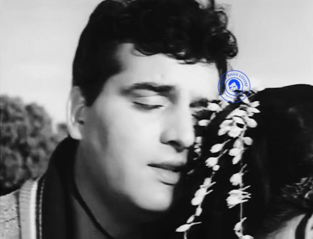 "Feroz Khan and Kum Kum in a romantic sequence frome M. M. Productions ""Main Wohi Hoon""1966     Main Wohi Hoon.1966        Produc..."