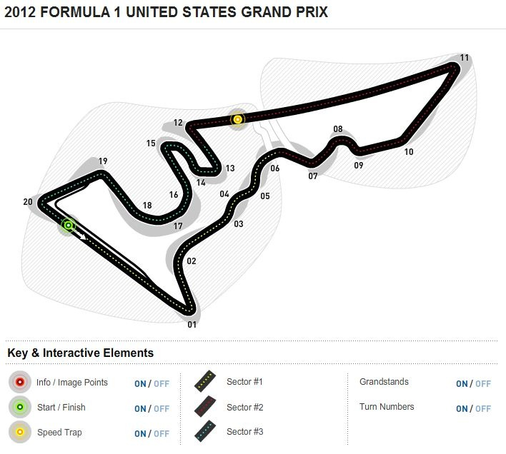 formula 1 united states grand prix circuit map