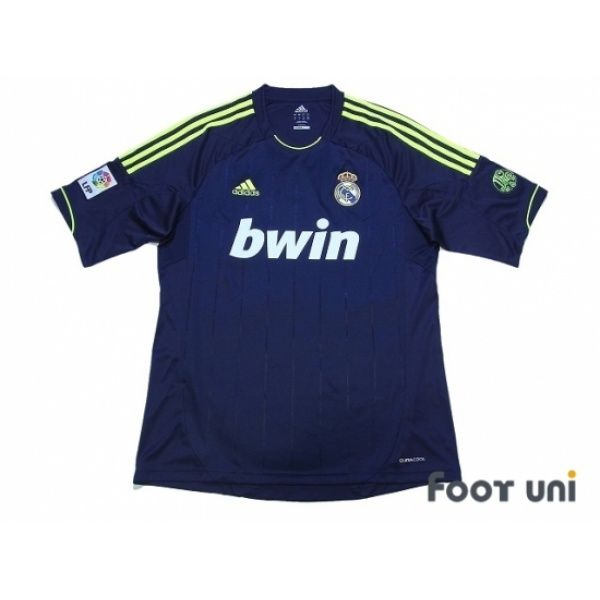 Photo1: Real Madrid 2012-2013 Away Shirt 110 Anos Patch/Badge LFP Patch/Badge adidas - Football Shirts,Soccer Jerseys,Vintage Classic Retro - Online Store From Footuni Japan