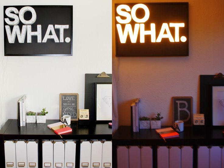 Wohnvorstellungen - Wohnen, Deko und DIY: Leuchtbuchstaben DIY