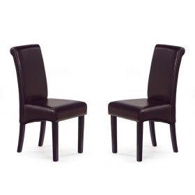 Krzesło Nero Halmar brąz zestaw 2 sztuk