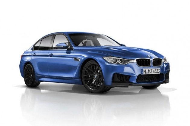 2014 BMW M3 will be powered by a 3.0L six-cylinder, 450-horsepower twin turbo engine that takes the M3 from 0-62 mph in 4.3 seconds. Top out speed occurs at 155 mph with the limiter and 180 mph without.
