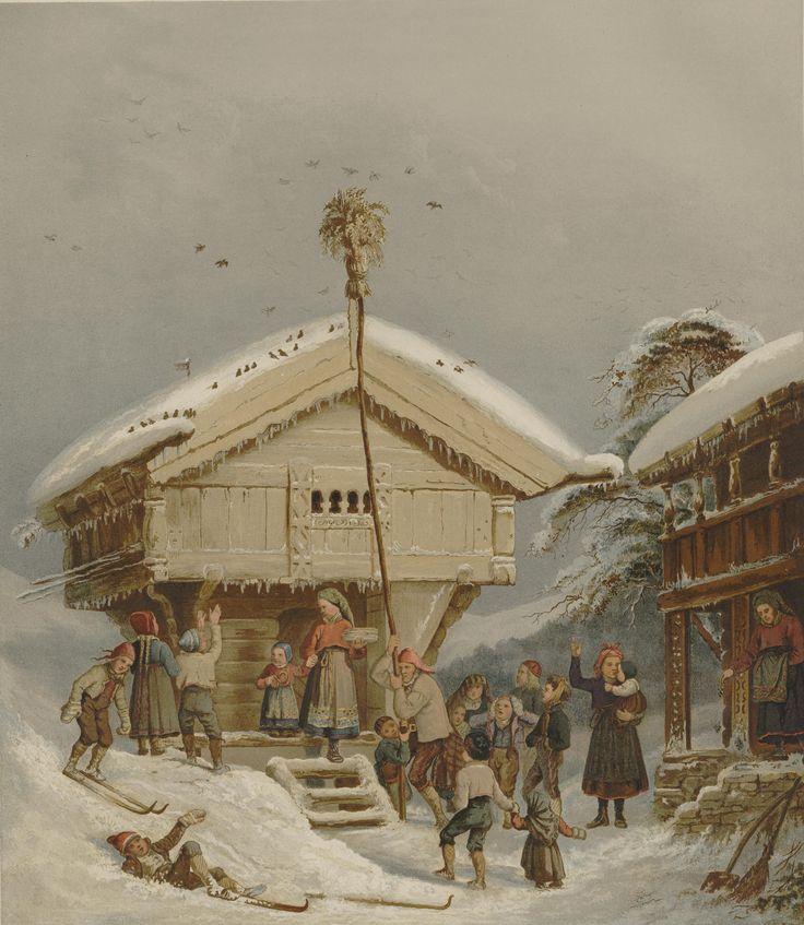 Norske Folkelivsbilleder - Adolph Tidemand - Juleskik. jpg (4619×5317)