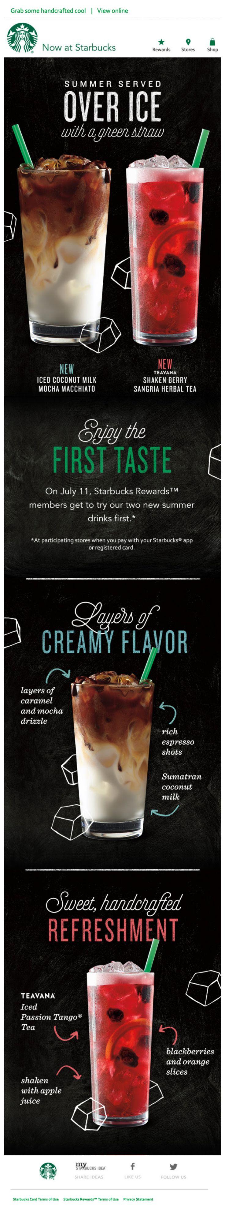 Starbucks - Email Marketing, First taste