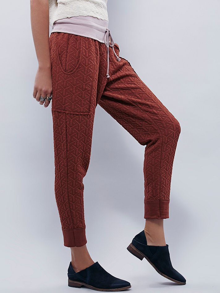Free People Quilted Sweat Pant, $88.00