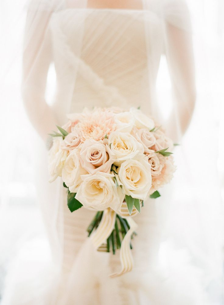 Rose-filled bouquet | Photography by @KT Merry   Read more - http://www.stylemepretty.com/2014/01/16/paris-destination-wedding-at-hotel-crillon-part-i/