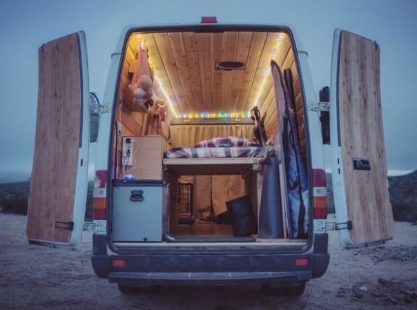 Filmmaker converts 14 ft. van into a traveling home (Video)